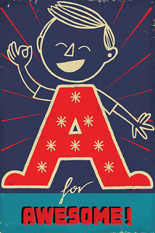 A for Awesome by Paul Thurlby