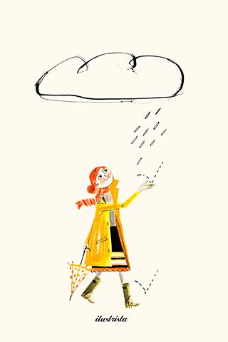 Rain Woman by Luciano Lozano, ilustrista