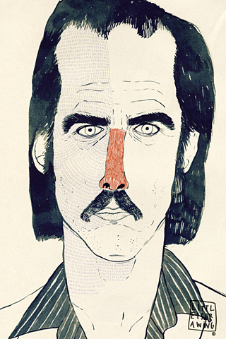 Nick Cave by Littleisdrawing