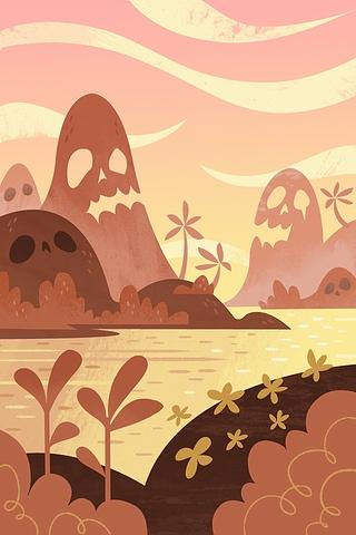 Skull Island by Gorillustrator