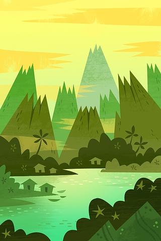 Volcano Bay by Gorillustrator