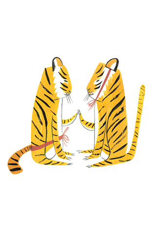 Two Tigers by Ping Zhu