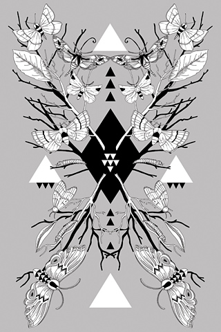 Poolga - Moth Symmetry 1 - Lucy Joy