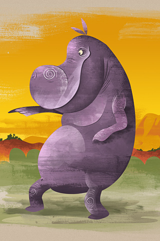 Hippo by Dave Mott