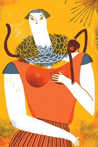 Mujer con chango by Malota