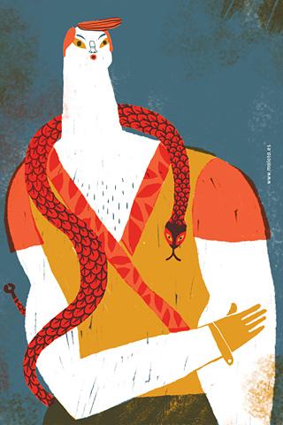 Hombre con serpiente by Malota