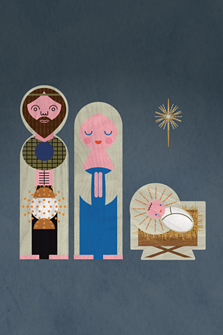 Jesus, Mary and Joseph by Dan Brindley