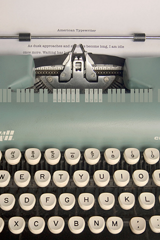Poolga - American Typewriter - Tom Davie