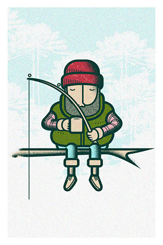 Pescando by Camilo Huinca - Onlyjoke