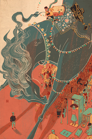 Money Horse by Victo Ngai