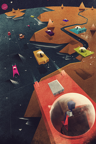 Poolga - Space Cars - Dan Matutina for Red Lemon Club