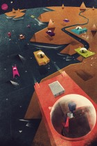 Space Cars by Dan Matutina for Red Lemon Club