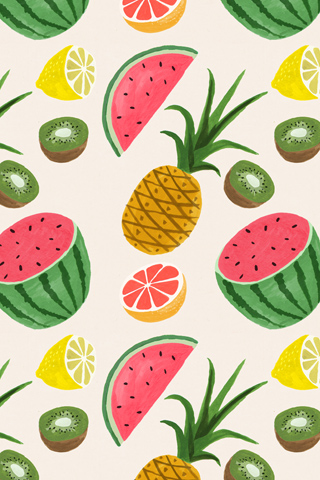 Tropical Fruits by Ruby Taylor