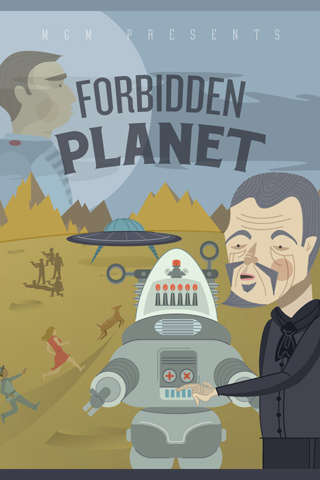 Forbidden Planet by Nate Koehler for Silver Screen Society