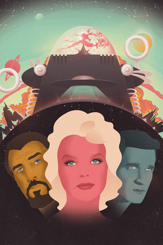 Forbidden Planet by Jack Hughes for Silver Screen Society