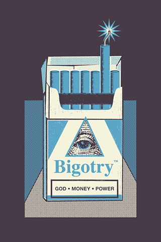 Bigotry Blue by Manu Callejón