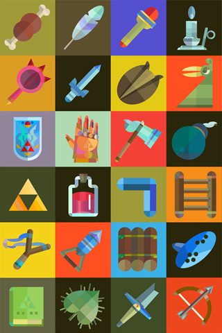 Zelda Items by Scott Balmer