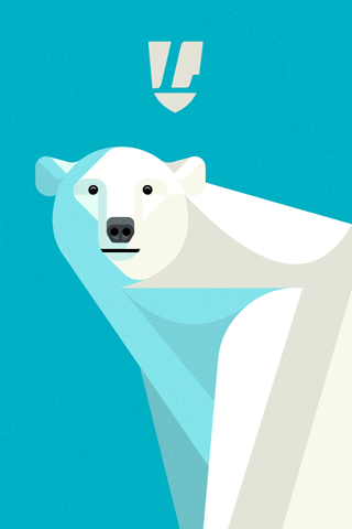 Poolga - Polar Bear Portrait - Lumadessa