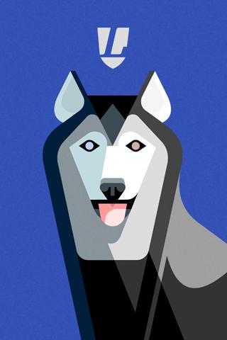 Alaskan Husky Portrait by Lumadessa