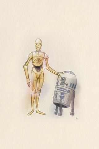 C-3PO & R2-D2 by Roberto Cecchi
