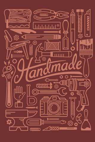 Handmade - Burgundy by Justin Schafer