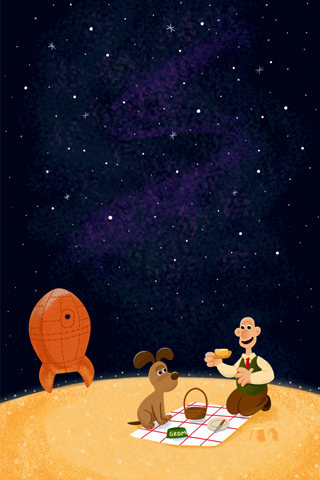 Wallace & Gromit by Eren Unten for Silver Screen Society