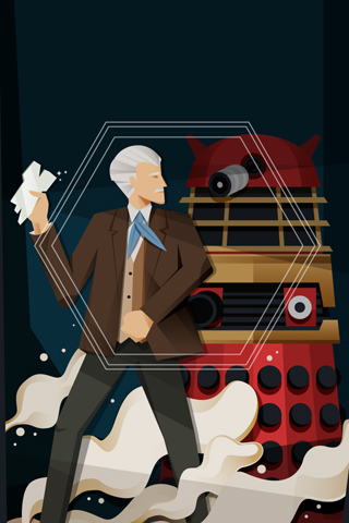 Dr. Who and the Daleks by Tommy Chandra for Silver Screen Society