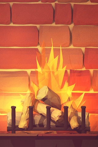 Yule Log 01 by Timothy J. Reynolds