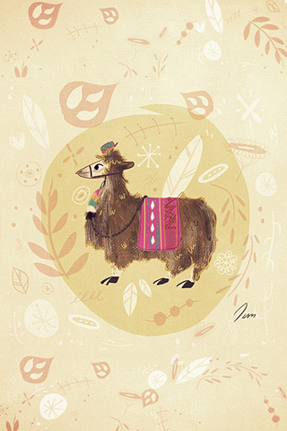 Magdalena The Lama by Juliana Cuervo