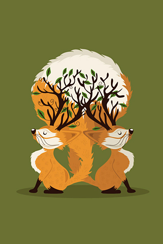 Fox Tree by Mónica Carrero
