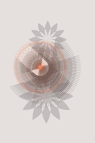Spirograph 3 by Daphna Sebbane