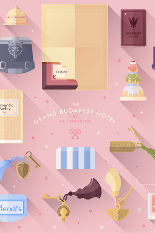 Poolga - Grand Budapest Hotel - Pattern - Lorena G