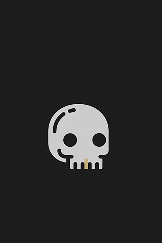 I Love Mondays (Skull) by Guilherme Zamarioli