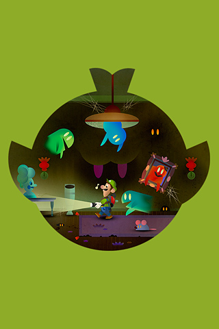 Luigi's Mansion by Scott Balmer