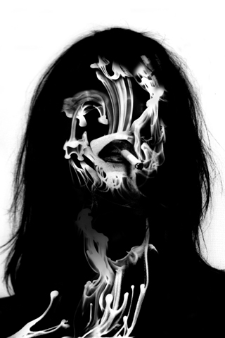 Smoking lady by There Is