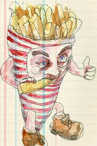 La fritte une fois by Lapin