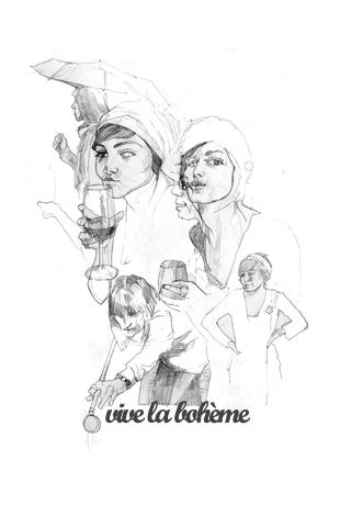 Vive la boheme III by María Simó
