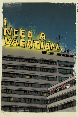 I need a vacation - night by Lehel Kovacs