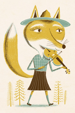 Fiddle Fox by Bjørn Rune Lie