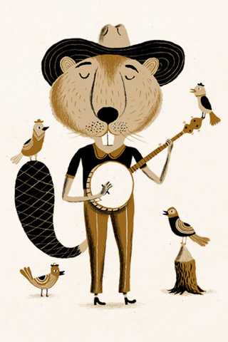 Banjo Beaver by Bjørn Rune Lie