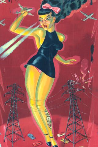 Electro Ladylux by Ryan Heshka