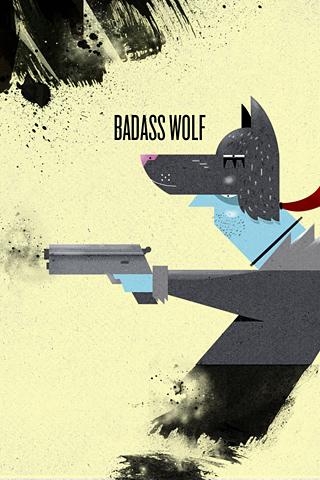 Badass Wolf by Dan Matutina
