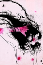Pink Butterfly by Conrad Roset