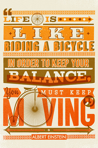Poolga - Bike Quote - Telegramme - Synergy Art