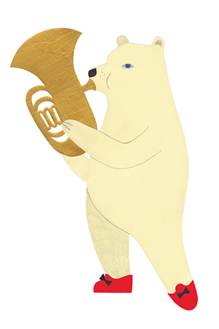 The Tuba Player by Karin Söderquist