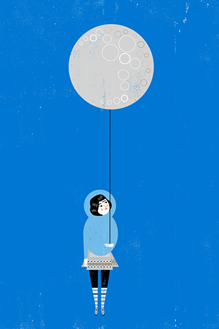 The Moon is Mine by Luciano Lozano, ilustrista