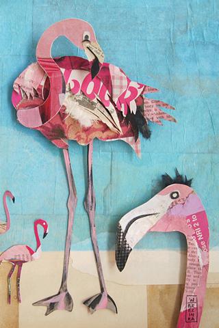 Flamingos by Wayne Brezinka